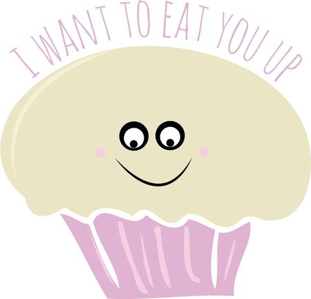 sweet tooth: If you have a sweet tooth eat this funny cupcake. Illustration