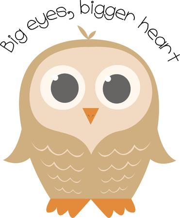wide eyed: Bird lovers will adore this wide eyed owl.