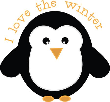 south pole: An adorable penguin is a perfect winter friend.