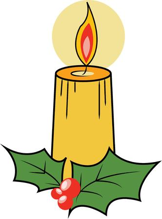 taper: Shine a Christmas candle in your decorations. Illustration