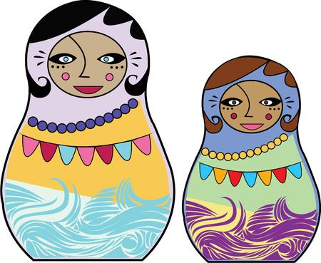 nesting: Lovely nesting dolls are a unique and lovely cultural icon.   Vibrant colors make them an appealing decoration.