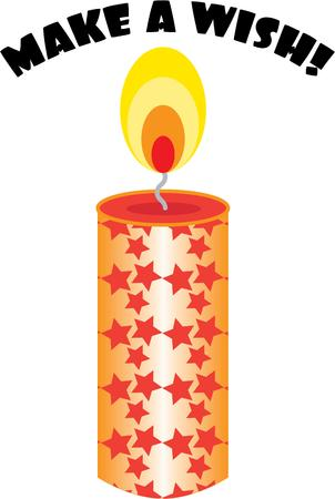 light up: Utilizzare una candela per illuminare le feste.