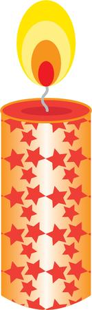 taper: Use a candle to light up the holidays. Illustration