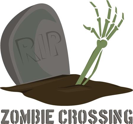 undead: Add whimsy to Halloween decorations with the undead. Illustration