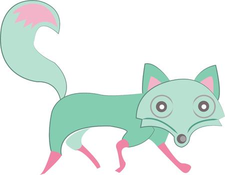 trot: Wildlife lovers will like this cute fox. Illustration