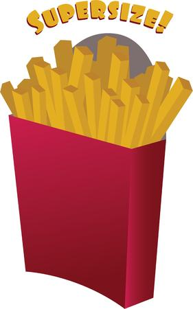 addition: French fries are a great addition to any meal. Illustration