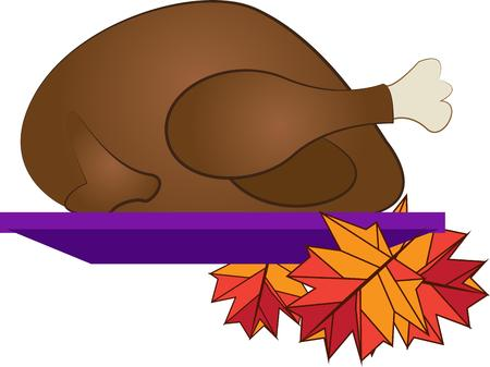 thanksgiving dinner: Turkey is the mainstay of the perfect Thanksgiving dinner. Illustration