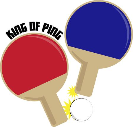 ping pong: Ping pong paddles show a love for the game.