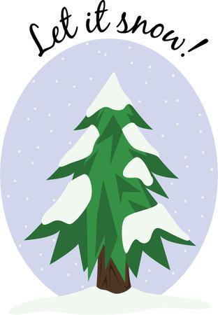 tannenbaum: Snowfall accents a great Christmas tree.