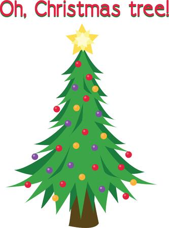 tannenbaum: A decorated tree is the perfect Christmas symbol. Illustration