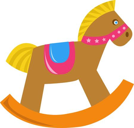 rocking: A rocking horse is a great childs toy.