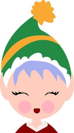 santa's helper: Have a Santas helper for your Christmas. Illustration