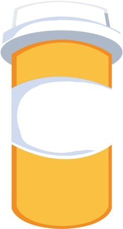 prescription bottle: This prescription pill bottle complete with a child proof cap is a pharmacy standard.  Fun text added make it a lighthearted design.