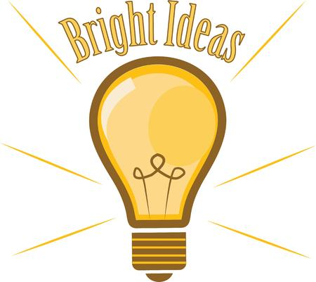 edison: A light bulb shows off your bright ideas. Illustration