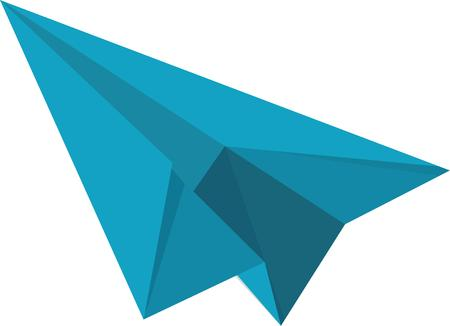principles: A few well placed folds and you are ready to take off and fly.  This display of basic principles of flight sails across many classrooms Illustration