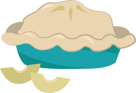 apple pie: Bakers make a great apple pie. Illustration