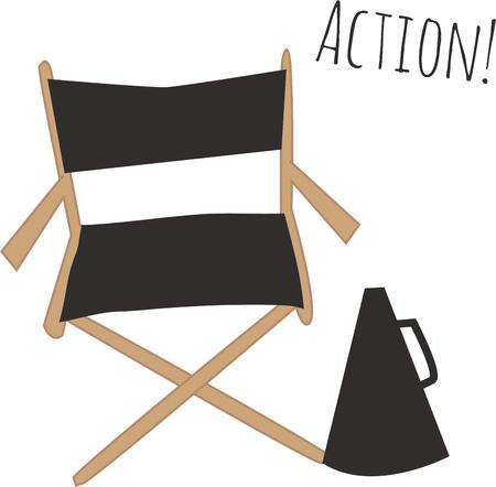 director's chair: Show people who is in charge with a directors chair.