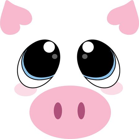animal related: This little piggy face is super cute as a part of animal related projects.  The little heart ears add an extra touch of sweetness
