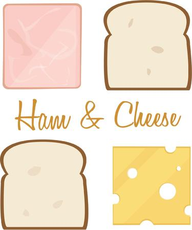 ham and cheese: All the makings for a great ham and cheese sandwich.
