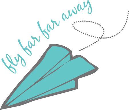 all love: Bambini grandi e piccoli tutti amano fare aeroplanini di carta.