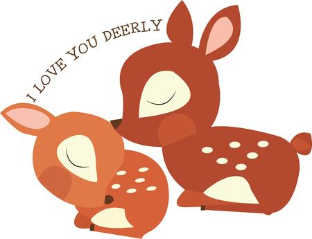 whitetail deer: Little kids will all want these baby deer. Illustration