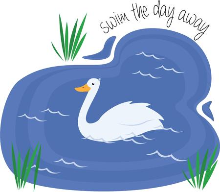 swan lake: Have a graceful swan in your water garden.