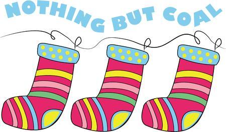 hang up: Hang your stockings up for Santa. Illustration