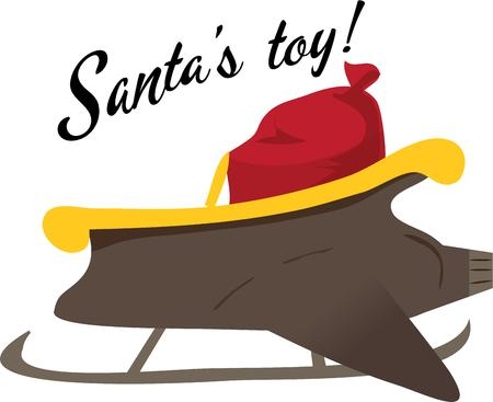 toy sack: Ayuda a Santa a entregar los regalos m�s r�pido con un trineo de chorro. Vectores