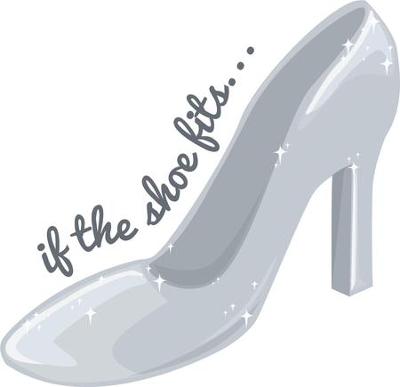 cinderella shoes: All princesses want a glass slipper. Illustration