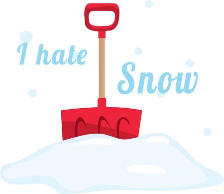 requires: A big snowfall requires a good shovel. Illustration