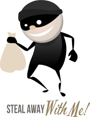 plunderer: A cute thief will steal your money and your heart. Illustration