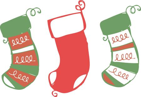 goodness: Christmas is a stocking stuffed with sugary goodness. Illustration