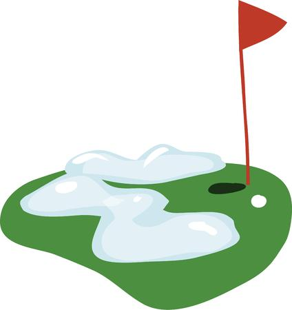 putting green: Serious golfers will enjoy a winter putting green. Illustration