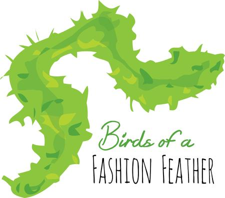 feather boa: Add some flair to your fashions with a feather boa.