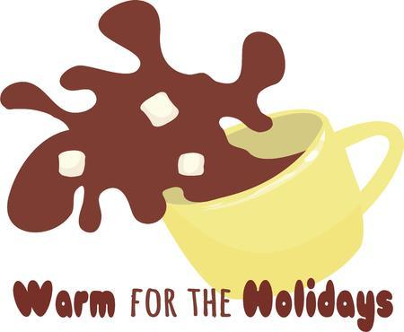 chocolat chaud: Le chocolat chaud est trop beau pour renverser. Illustration
