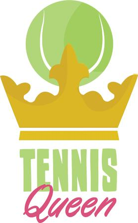 ruling: Tennis Players will love ruling the courts. Illustration