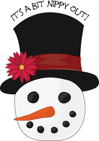 carrot nose: A snowman head is a great winter decoration.