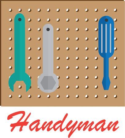 peg board: Every craftsman needs a good set of tools. Illustration