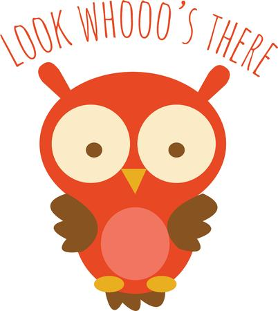 fowls: A cute owl is fun for a lighthearted project.