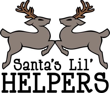 helpers: Have reindeer for your Christmas holiday.