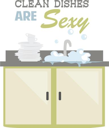 kitchen counter: Cooks love a clean kitchen and can show it off with a bubbly sink. Illustration