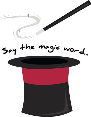 topper: Magicians need a good hat and wand for magic to happen.