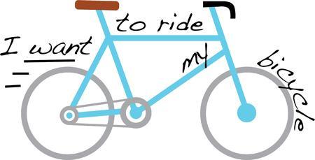 martinet: Avoir un v�lo plaisir avec une bicyclette rapide. Illustration