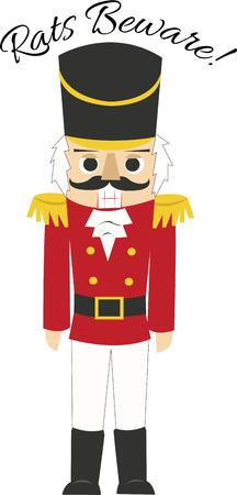 man in suite: The nutcracker is a holiday icon. Illustration
