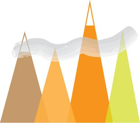 bluff: Beautiful mountains make a great landscape scene. Illustration