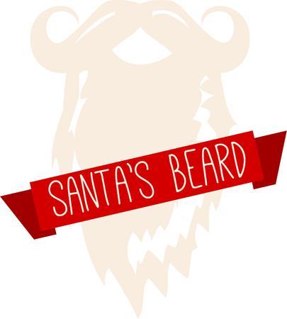 ho: Say ho ho ho with a Santa beard.