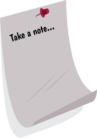 tack: Use this paper for notes and messages.