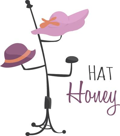 clothing rack: Ladies who love to wear hats will like a fun hat rack.