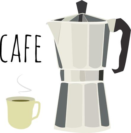 great coffee: Always have a great pot of coffee. Illustration