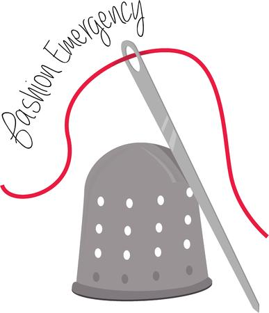 thimble: Tailors and seamstresses need a good thimble and needle for their work. Illustration